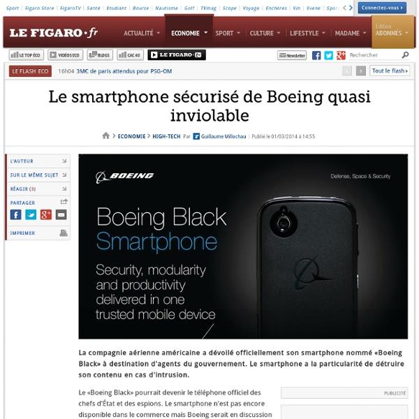 Le smartphone sécurisé de Boeing quasi inviolable