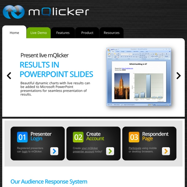 mQlicker - Free Audience Response System for Mobile, Cell and Smartphones, Tablets including iPhone, iPad, Android, Blackberry and Kindle
