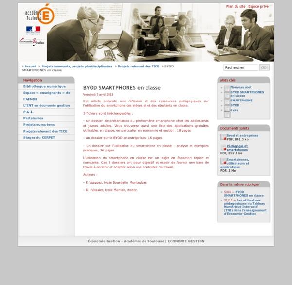 BYOD SMARTPHONES en classe - Académie-Toulouse