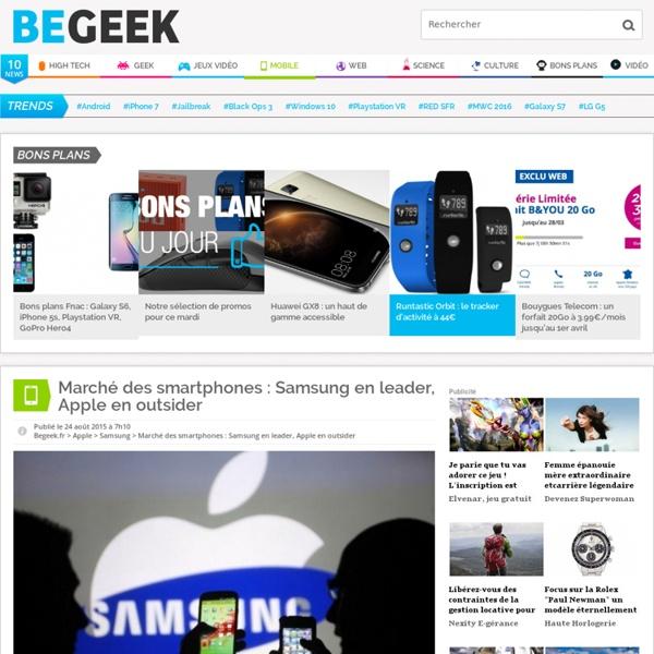 Marché des smartphones : Samsung en leader, Apple en outsider