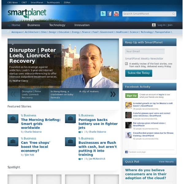 SmartPlanet - Innovative Ideas That Impact Your World