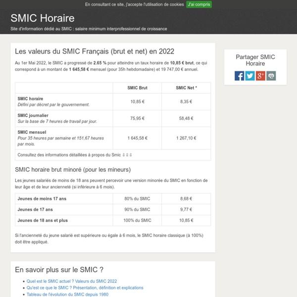 SMIC en 2017 - Smic horaire et mensuel, brut et net