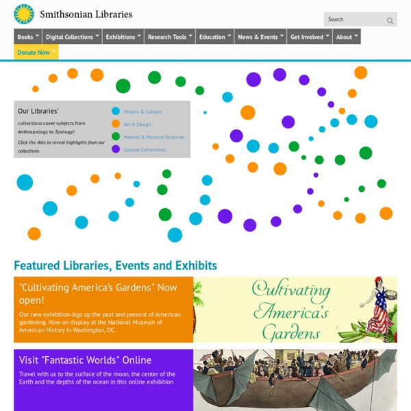 Smithsonian Institution Libraries Homepage