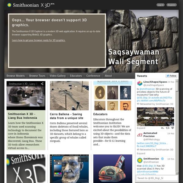 Smithsonian X 3D