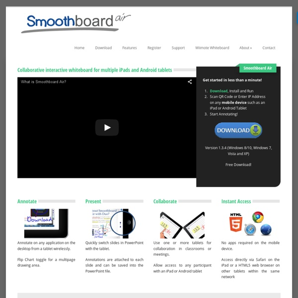 Smoothboard Air - Collaborative Interactive Whiteboard for iPads and Android Tablets