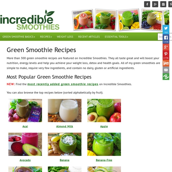 Fruit & Green Smoothie Recipes