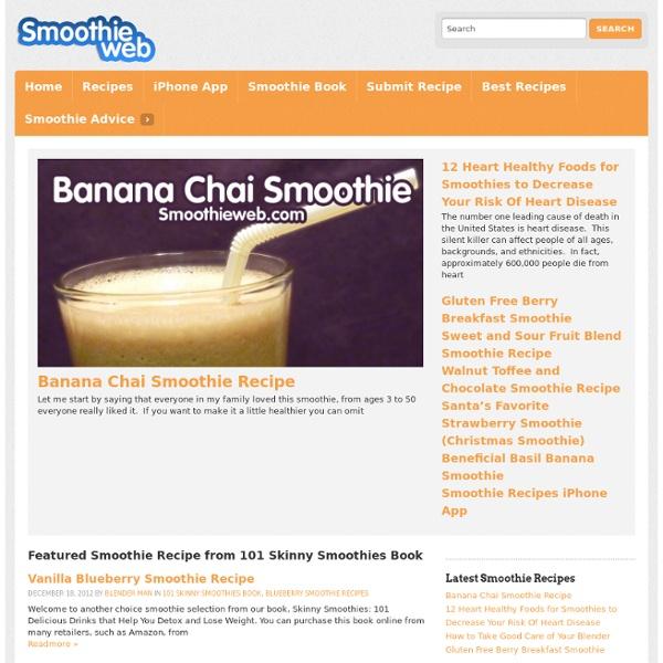 Smoothie Recipes : Fruit Smoothies Recipe: Healthy Smoothies