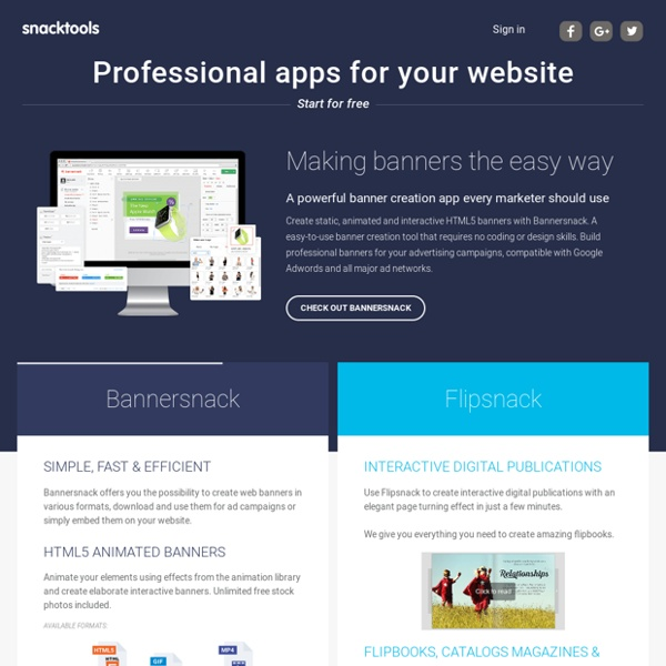 Free web apps & blog and website widgets