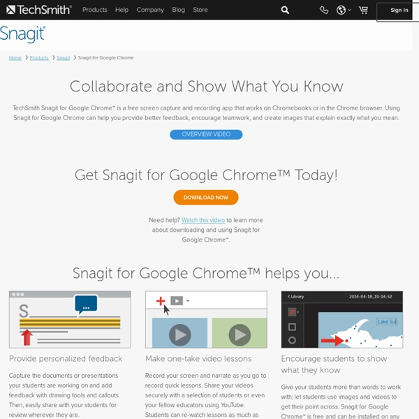 Snagit for Google Chrome