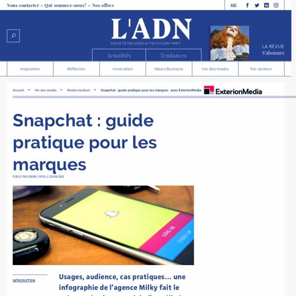 Snapchat marque stratégie