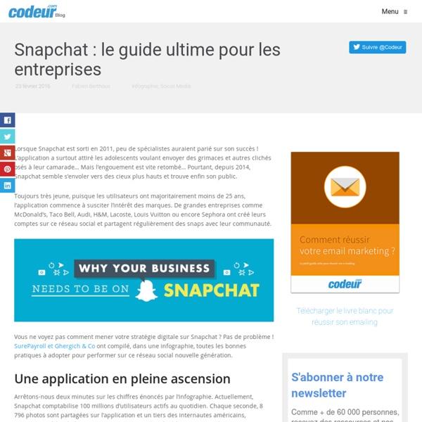 Snapchat : le guide ultime pour les entreprises