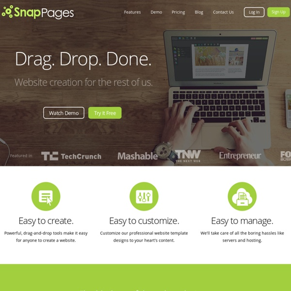 SnapPages - Create a Website