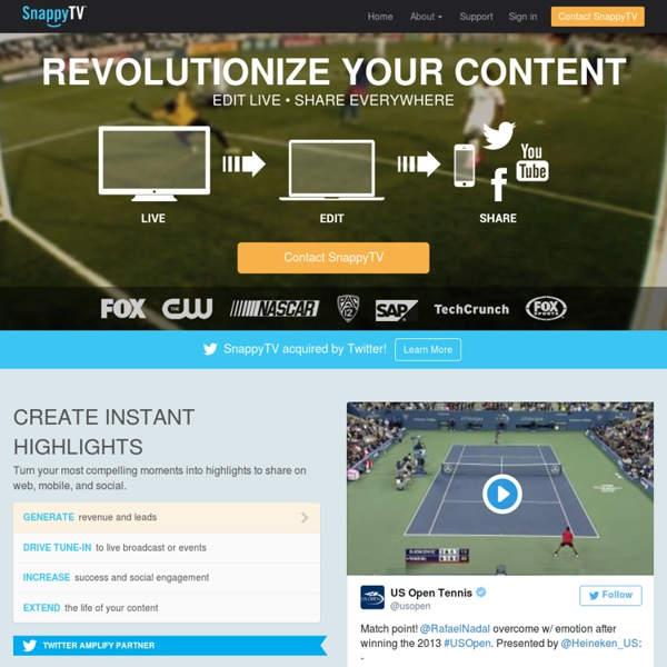Fast easy video editing, real-time sharing to Twitter and Facebook, in the cloud