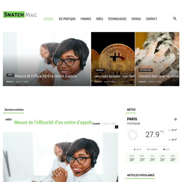 """Snatch magazine """"Le Shot Culturel"""""""