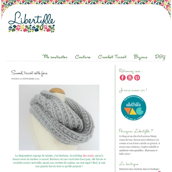 Snood, tricot cette fois…