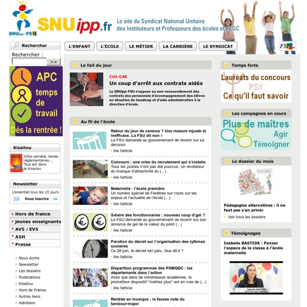SNUipp-FSU syndicat enseignants