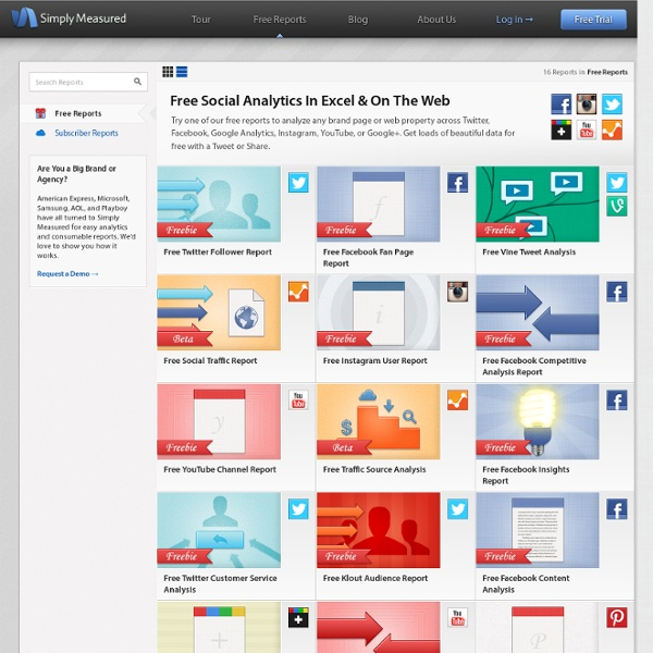 Free Social Media Analytics Tools