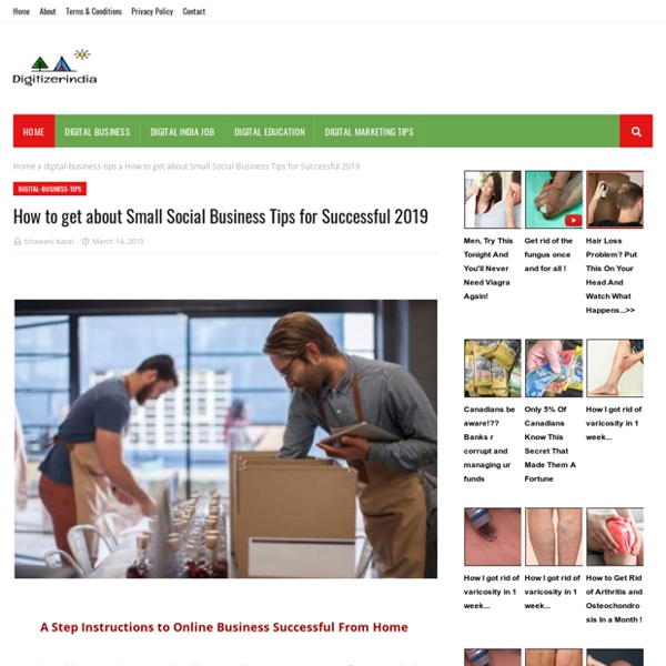 How to get about Small Social Business Tips for Successful 2019