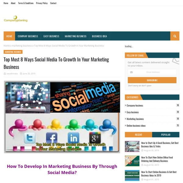 Top Most 8 Ways Social Media To Growth In Your Marketing Business