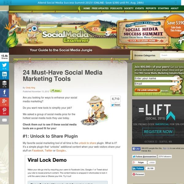 24 Must-Have Social Media Marketing Tools