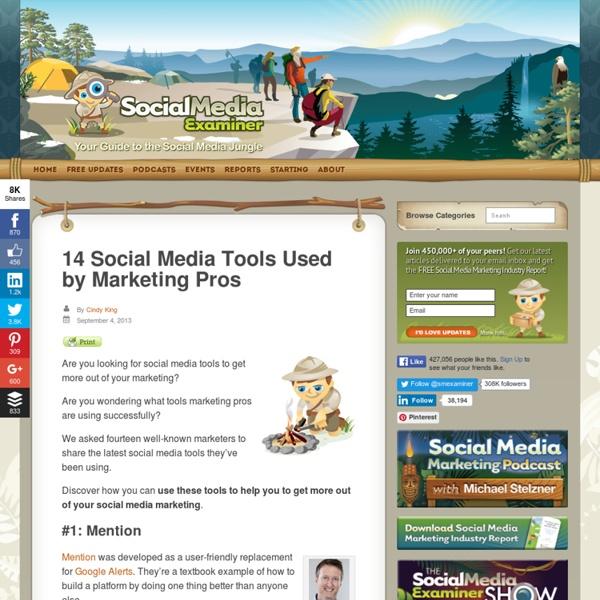 14 Social Media Tools Used by Marketing Pros