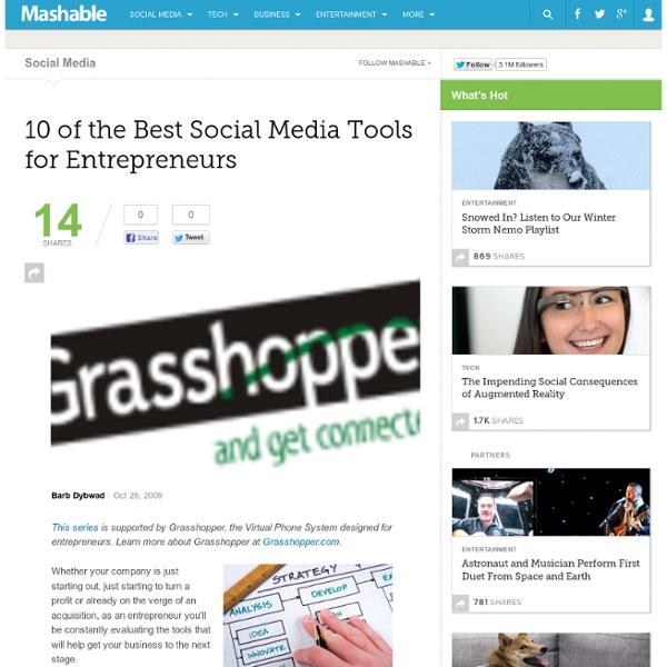10 of the Best Social Media Tools for Entrepreneurs