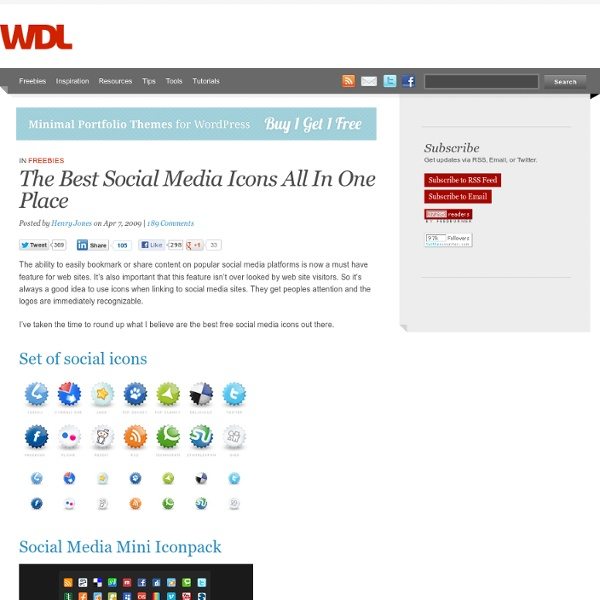 Article: The Best Social Media Icons All In One Place
