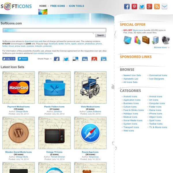 Free Icon Sets, Social Media Icons, Web Icons, Toolbar Icons, Icon Tools - SoftIcons.com