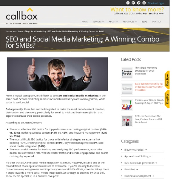 SEO and Social Media Marketing: A Winning Combo for SMBs?