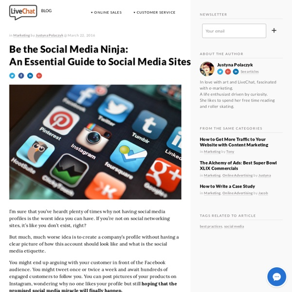 Be the Social Media Ninja: A Guide to Social Media Sites