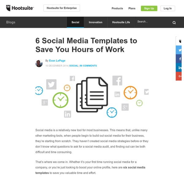 6 Social Media Templates to Save You Hours of Work