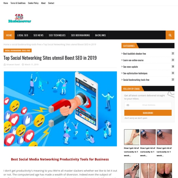 Top Social Networking Sites utensil Boost SEO in 2019