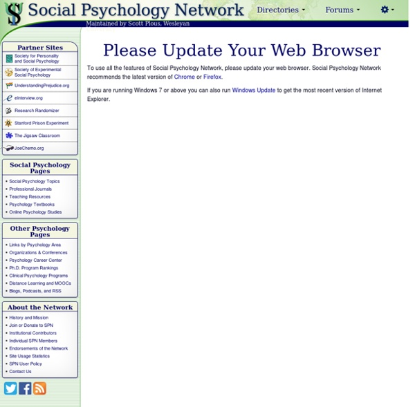 Social Psychology Network