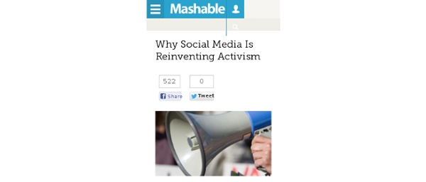 Why Social Media Is Reinventing Activism