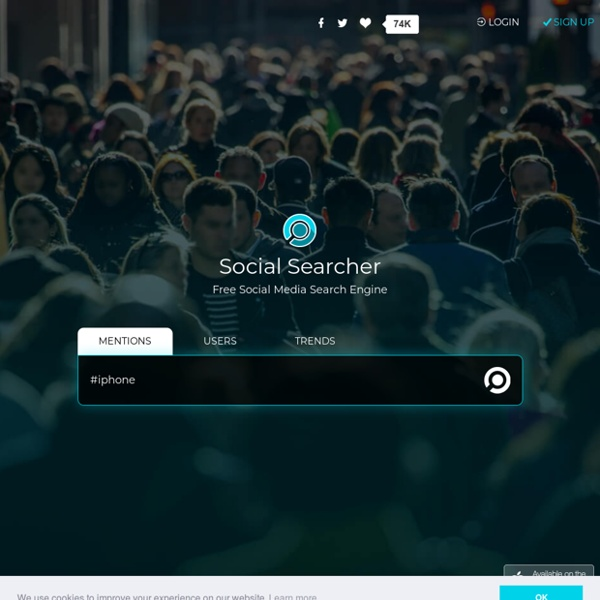 Social Searcher - Free Social Media Search Engine