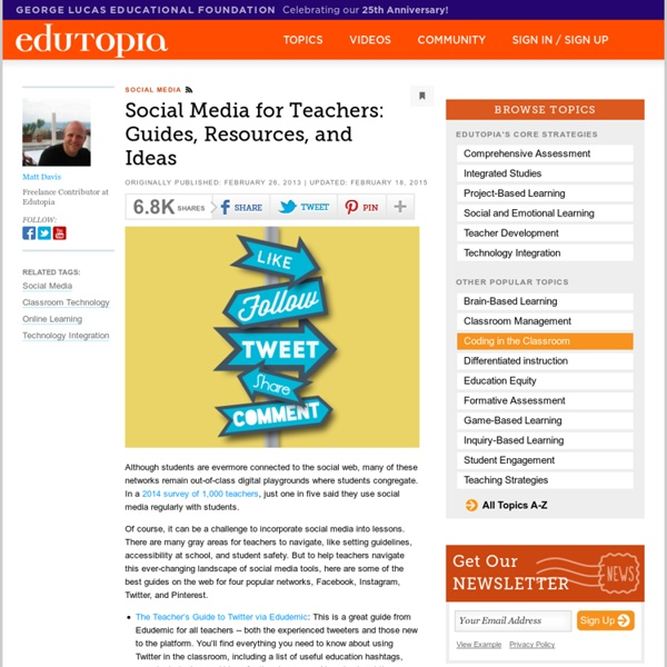 Social Media for Teachers: Guides, Resources, and Ideas