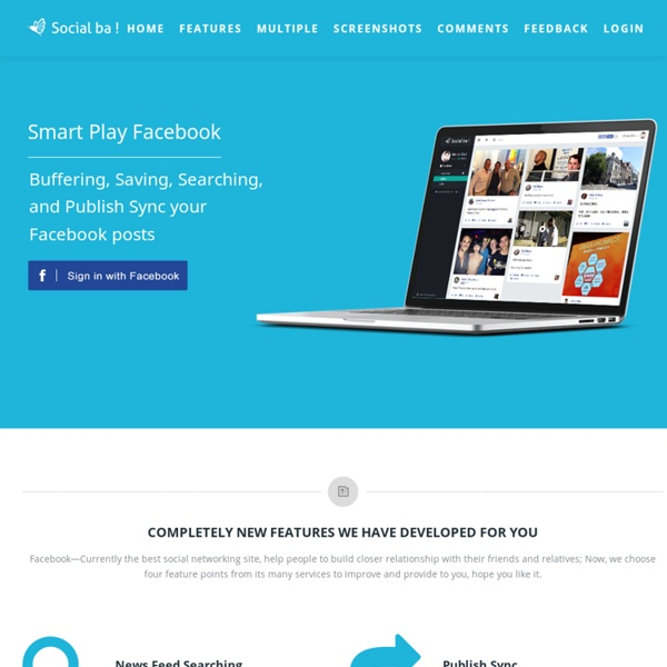 Socialba! - The extension sync publish for social network!