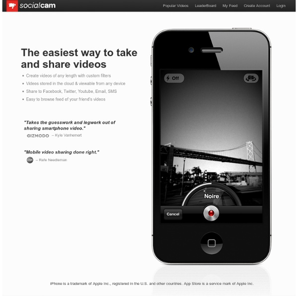 Socialcam: The easiest way to share video with friends