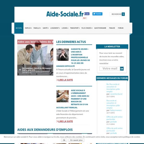 Aide-sociale.fr Les aides financières dont vous pouvez bénéficier Aide-sociale