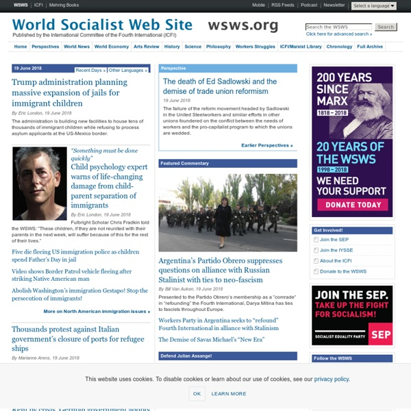 World Socialist Web Site - Marxist analysis, international working class struggles & the fight for socialism