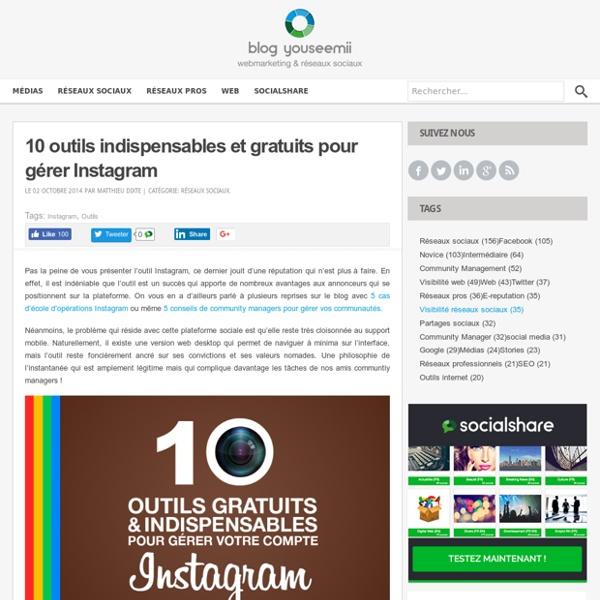 10 outils indispensables et gratuits pour gérer Instagram