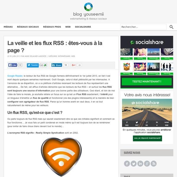 La veille et les flux RSS : êtes-vous à la page ? Blog YouSeeMii