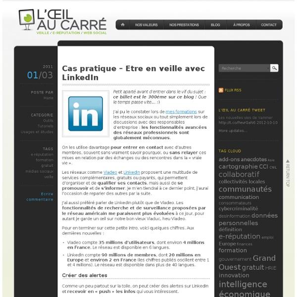 Cas pratique – Etre en veille avec LinkedIn