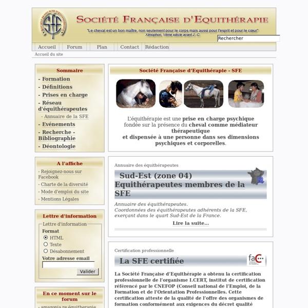 Société Française d'Equithérapie - SFE