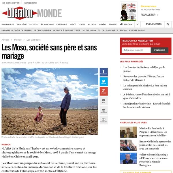 Les Moso, société sans père et sans mariage