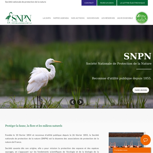 Bienvenue à la SNPN - Société Nationale de Protection de la Nature