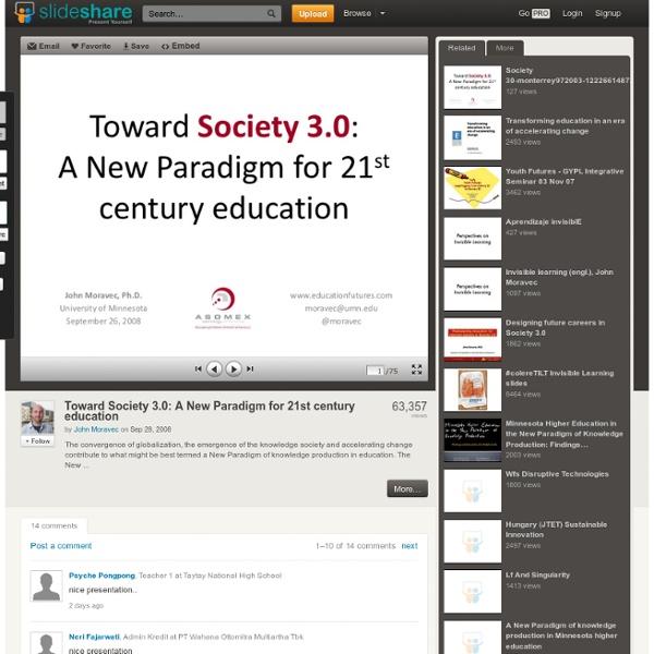 Toward Society 3.0: A New Paradigm for 21st century education