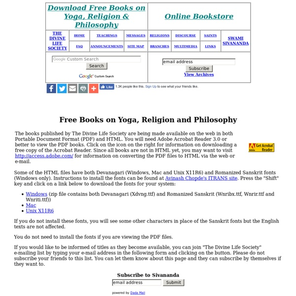 Free Books on Yoga, Religion & Philosophy