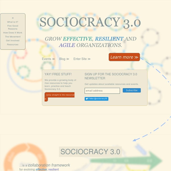 Sociocracy 3.0 - Grow effective, resilient and agile organizations.