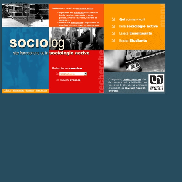 Sociolog - Exercices de sociologie - FUNDP - Accueil